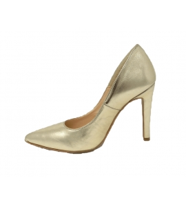 Shoes elegant pointed stiletto heel with 10 cm - gold - 5