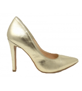 Shoes elegant pointed stiletto heel with 10 cm - gold - 1