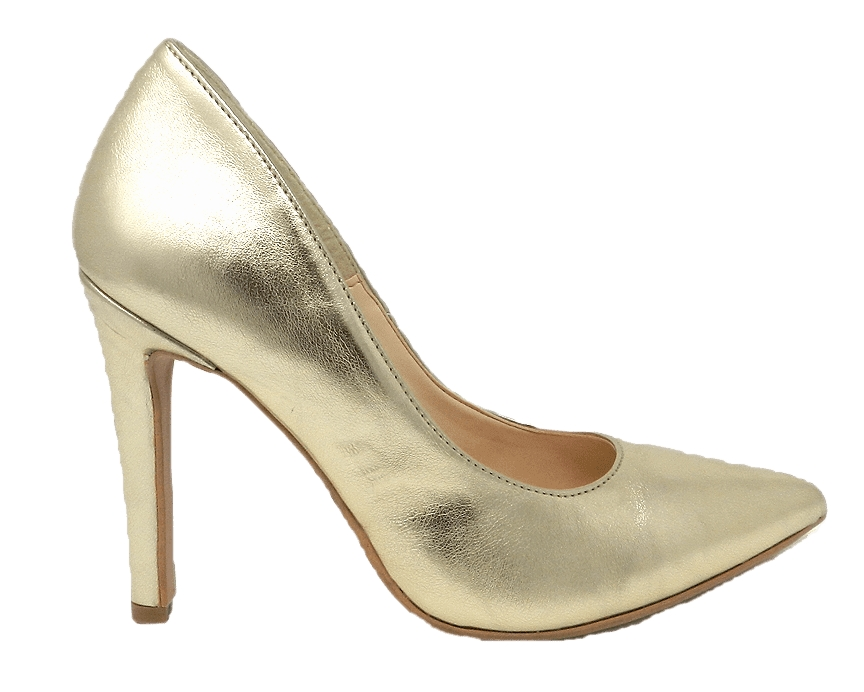 Shoes elegant pointed stiletto heel with 10 cm - gold