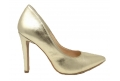 Shoes elegant pointed stiletto heel with 10 cm - gold - 7