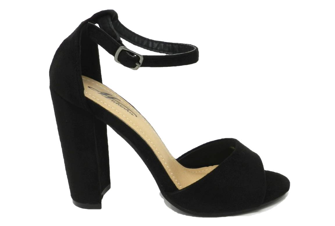 Noir Cuir Séduisante Femme Sandale En Daim fy76gbIvmY