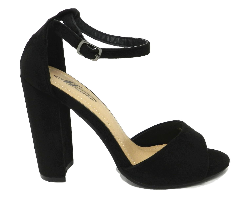 Seductive sandal women's leather-suede - black