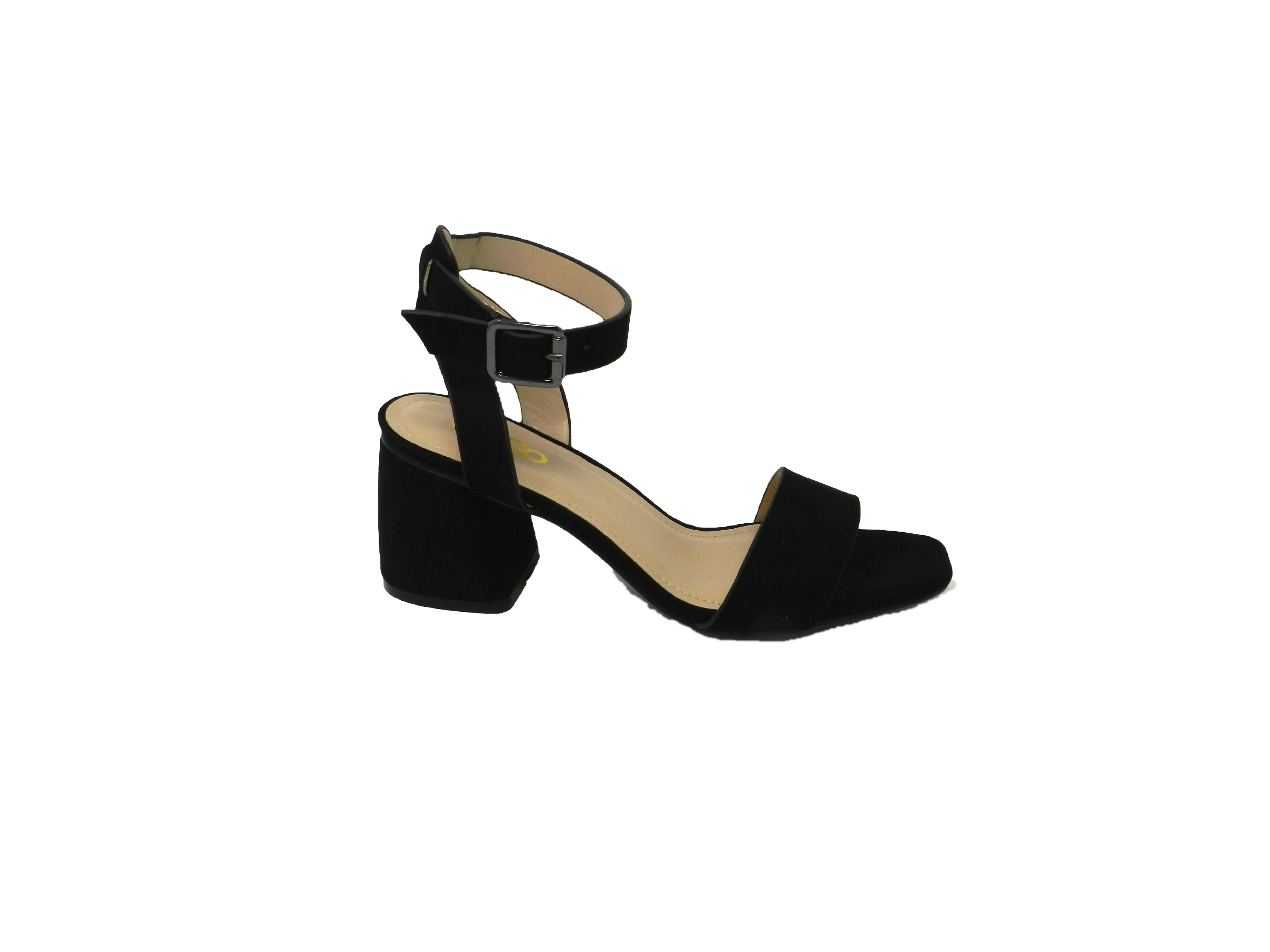 Comfortable sandal women's faux suede - black